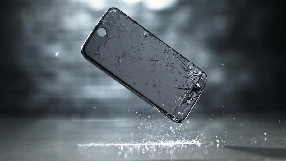 счупено стъкло на айфон